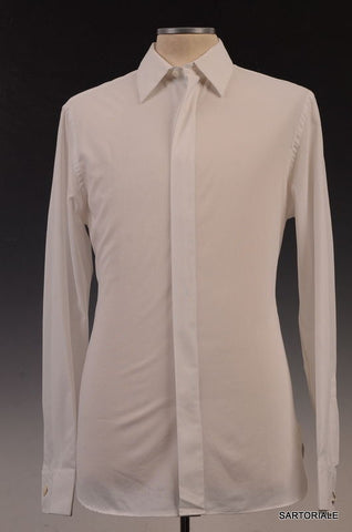 VALENTINO Solid White Cotton French Cuff Dress Shirt US 15.5 NEW EU 39 - SARTORIALE - 1