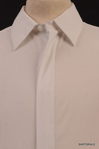 VALENTINO Solid White Cotton French Cuff Dress Shirt US 15.5 NEW EU 39 - SARTORIALE - 2
