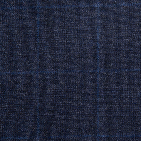 Sartoria CESARE ATTOLINI for M. Bardelli Blue Plaid Wool Super 120's Suit 48 NEW