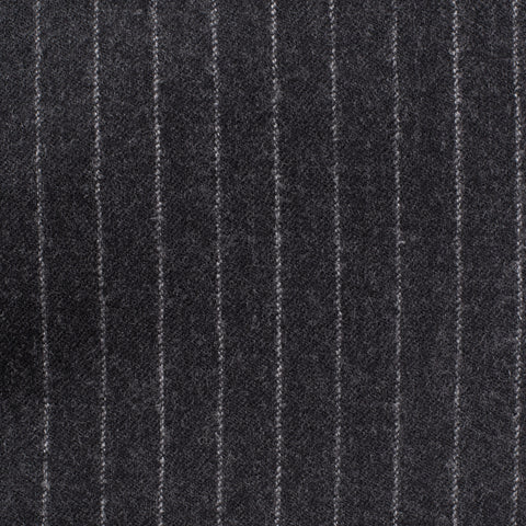 CESARE ATTOLINI Napoli Dark Gray Striped Wool Super 120's Flannel Suit NEW