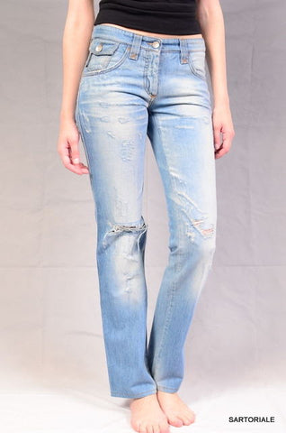 DOLCE & GABBANA Italy Light Blue Faded Ripped Denim Jeans IT 40 NEW US 4 / S - SARTORIALE - 1