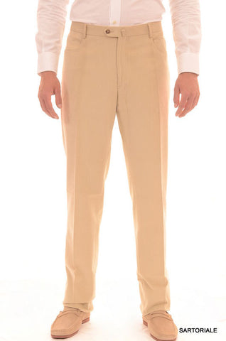 RUBINACCI Napoli Beige Cotton Jeans Pants EU 56 NEW US 40 Straight Classic Fit - SARTORIALE - 1