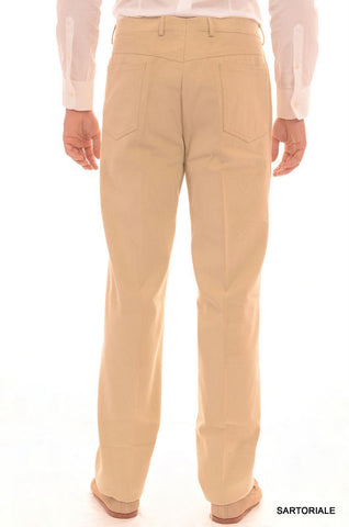 RUBINACCI Napoli Beige Cotton Jeans Pants EU 56 NEW US 40 Straight Classic Fit - SARTORIALE - 2
