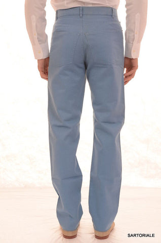 RUBINACCI Napoli Blue Cotton Jeans Pants EU 56 NEW US 40 Straight Classic Fit - SARTORIALE - 2