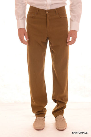 RUBINACCI Napoli Olive Wool - Poly Jeans Pants NEW Classic Fit - SARTORIALE - 1