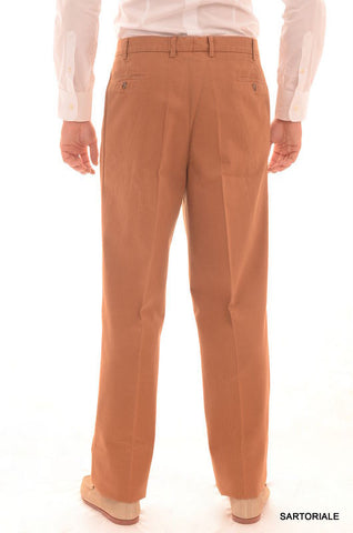 RUBINACCI Napoli Brown Herringbone Cotton Dress Pants EU 54 NEW 38 Classic Fit - SARTORIALE - 2