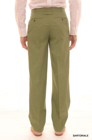 RUBINACCI Napoli Green Cotton Dress Pants EU 46 NEW US 30 Straight Classic Fit - SARTORIALE - 2