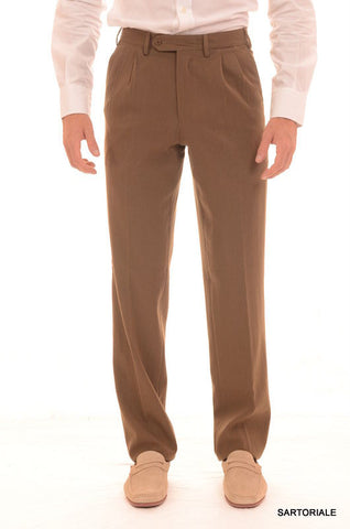 RUBINACCI Napoli Solid Khaki Wool Dress Pants EU 44 NEW US 28 Straight Classic F - SARTORIALE - 1