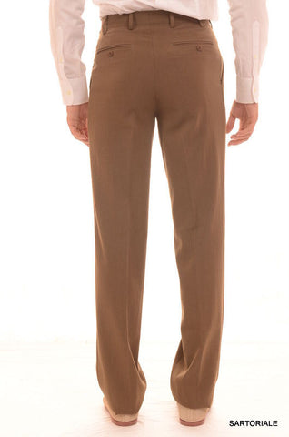 RUBINACCI Napoli Solid Khaki Wool Dress Pants EU 44 NEW US 28 Straight Classic F - SARTORIALE - 2