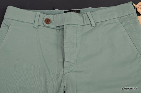 UNIS Made In USA Green Cotton Slim Fit Pants NEW 33 - SARTORIALE - 2