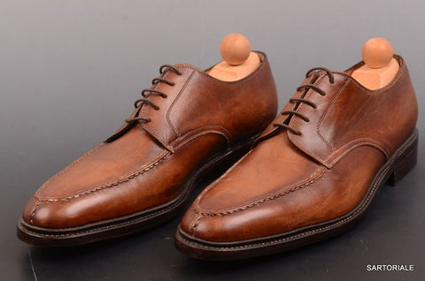 "RUBINACCI Napoli ""Derby"" Brown Leather Dress Norwegian Shoes EU 43 NEW US 10 - SARTORIALE - 1"
