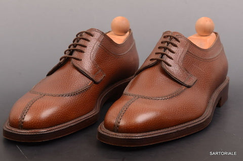 "RUBINACCI Napoli ""Derby"" Brown Leather Norwegian Dress Shoes EU 43 NEW US 10 - SARTORIALE - 1"