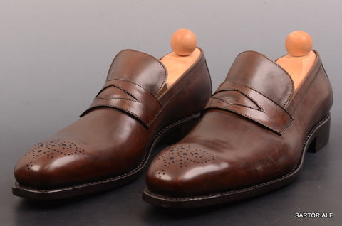 "RUBINACCI Napoli Moccasino Cuoio"" Brown Leather Loafer Dress Shoes 44.5 NEW 11.5 - SARTORIALE - 1"