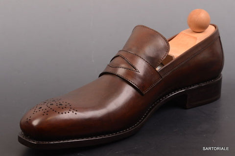 "RUBINACCI Napoli Moccasino Cuoio"" Brown Leather Loafer Dress Shoes 44.5 NEW 11.5 - SARTORIALE - 2"