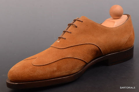 "RUBINACCI Napoli ""Oxford"" Brown Suede Casual Dress Shoes EU 41 NEW US 8 - SARTORIALE - 2"