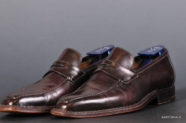 SUTOR MANTELLASSI Hand Made Loafers Shoes Brown 6.5 - SARTORIALE - 1
