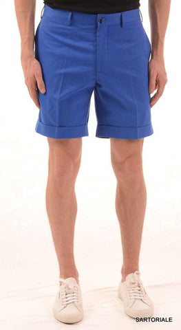 RUBINACCI Napoli Blue Cotton Casual Bermuda Shorts NEW - SARTORIALE - 1