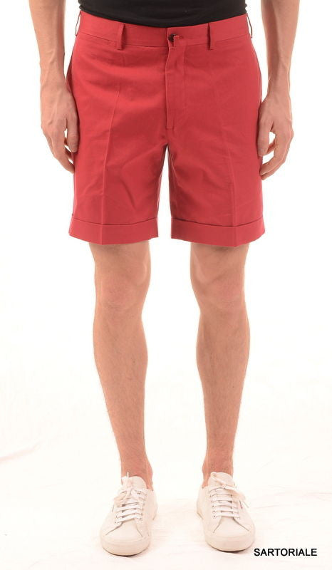RUBINACCI Napoli Red Cotton Casual Bermuda Shorts NEW - SARTORIALE - 1