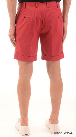RUBINACCI Napoli Red Cotton Casual Bermuda Shorts NEW - SARTORIALE - 2