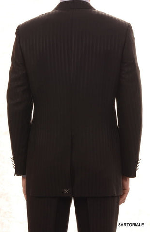 CANALI Made In Italy Black Striped Wool-Silk Suit Slim Fit R8 NEW - SARTORIALE - 2