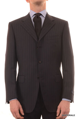 CANALI Italy Navy Blue Striped Super 120's Wool Business Suit 50 NEW 40 Classic - SARTORIALE - 1