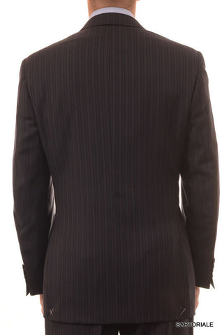 CANALI Italy Navy Blue Striped Super 120's Wool Business Suit 50 NEW 40 Classic - SARTORIALE - 2