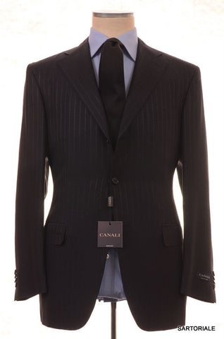 CANALI Italy Navy Blue Striped Wool-Silk Suit EU 52 NEW US 42 Slim Fit - SARTORIALE - 1