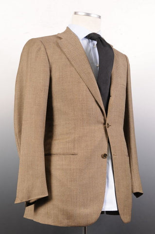 KITON NAPOLI Hand Made Solid Beige Wool Suit EU 48 NEW US 38 - SARTORIALE - 1