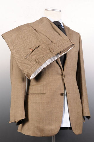 KITON NAPOLI Hand Made Solid Beige Wool Suit EU 48 NEW US 38 - SARTORIALE - 7