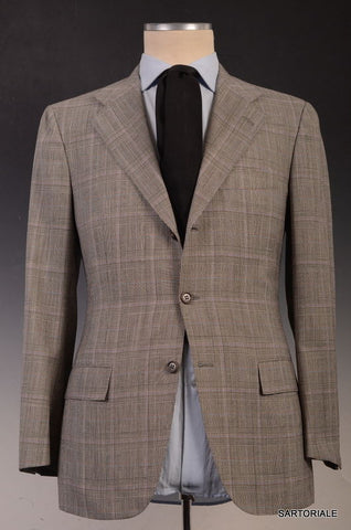 KITON Napoli Hand Made Gray Glen Plaid Wool Suit EU 50 NEW US 38 40 - SARTORIALE - 1
