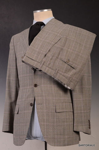 KITON Napoli Hand Made Gray Glen Plaid Wool Suit EU 50 NEW US 38 40 - SARTORIALE - 7