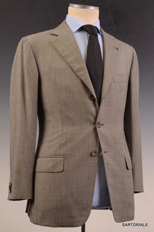RUBINACCI LH Hand Made London House Bespoke Gray Wool Business Suit 48 NEW 36 38 - SARTORIALE - 1