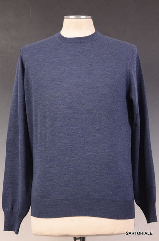 BRUNELLO CUCINELLI Blue Cashmere-Wool Crewneck Sweater US XS NEW EU 46 - SARTORIALE - 1