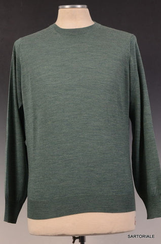 BRUNELLO CUCINELLI Green Cashmere-Wool Crewneck Sweater US XS NEW EU 46 - SARTORIALE - 1