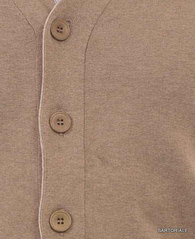 BRUNELLO CUCINELLI Green Cotton V-Neck Cardigan Sweater US M NEW EU 50 - SARTORIALE - 2