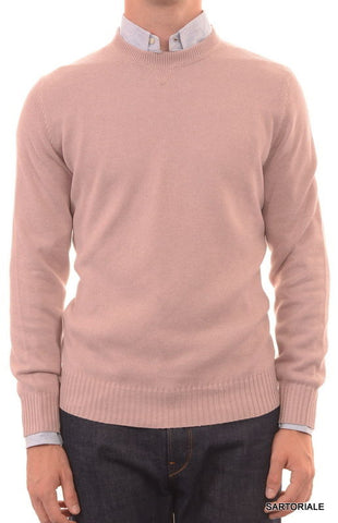 BRUNELLO CUCINELLI Light Purple Cotton Crewneck Knit Sweater US XXL NEW EU 56 - SARTORIALE - 1