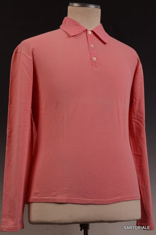 RUBINACCI Napoli Solid Pink Pique Cotton Polo Shirt Sweater NEW - SARTORIALE - 1