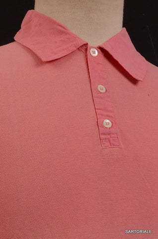 RUBINACCI Napoli Solid Pink Pique Cotton Polo Shirt Sweater NEW - SARTORIALE - 2
