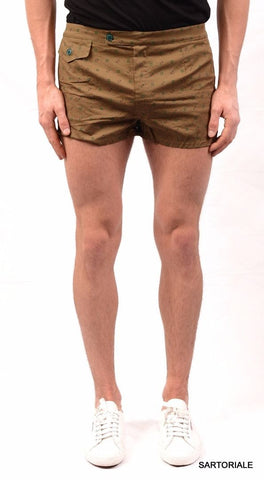 RUBINACCI Napoli Army Green Cotton Bathing Suit Swim Shorts Trunks NEW - SARTORIALE - 1