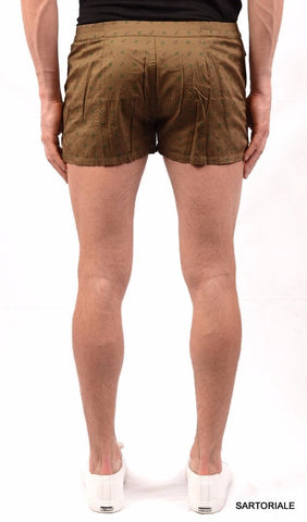 RUBINACCI Napoli Army Green Cotton Bathing Suit Swim Shorts Trunks NEW - SARTORIALE - 2
