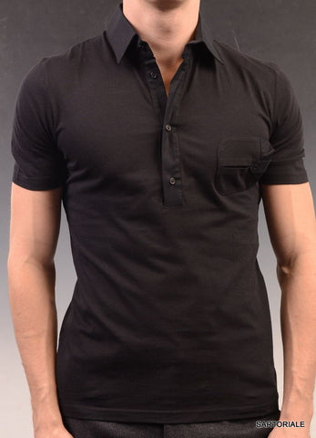 LES HOMMES Black Cotton Short Sleeve T-Shirt US XS NEW EU 46 - SARTORIALE - 1