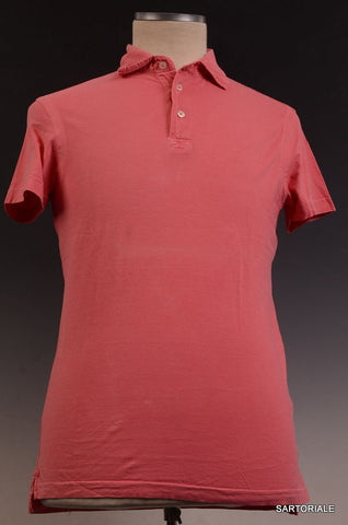 RUBINACCI Napoli Solid Pink Cotton Short Sleeve Polo Shirt NEW - SARTORIALE - 1