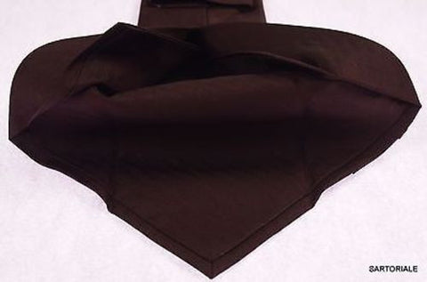 KITON Napoli Hand-Made Seven Fold Brown Herringbone Textured Silk Tie NEW - SARTORIALE - 2