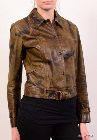 "PLEIN SUD PARIS ""FAYCAL AMOR"" Military Camo Leather Jacket Size FR 40 US 8 / M - SARTORIALE - 1"