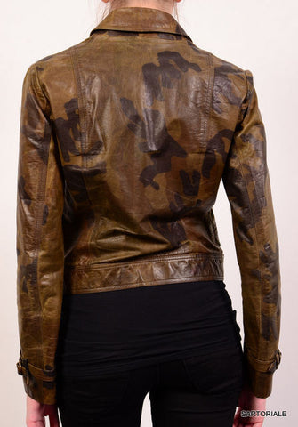 "PLEIN SUD PARIS ""FAYCAL AMOR"" Military Camo Leather Jacket Size FR 40 US 8 / M - SARTORIALE - 2"