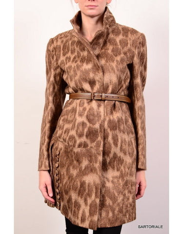 PRADA Leopard Coat with Belt IT 40 NEW US 6 / S Runway - SARTORIALE - 2