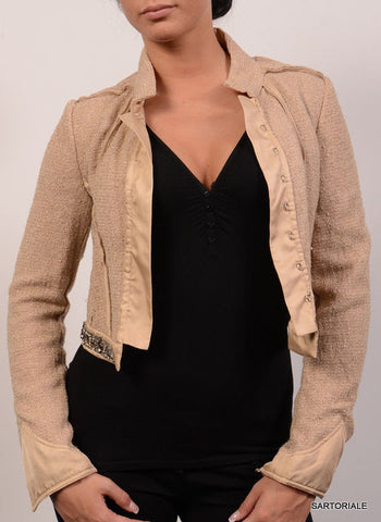 ROBERTO CAVALLI Beige Short Jacket Size IT 42 NEW US 6 / S - SARTORIALE - 1