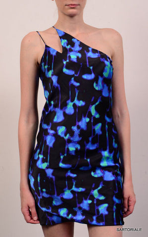 NINA RICCI PARIS Multicolor Silk One Shoulder Dress Size FR 36 NEW US 4 / S - SARTORIALE - 2