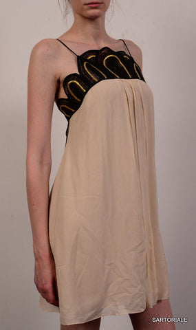 TEMPERLEY LONDON Cream Silk Dress Size UK 8 US 4 / S - SARTORIALE - 1
