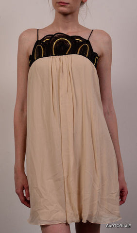 TEMPERLEY LONDON Cream Silk Dress Size UK 8 US 4 / S - SARTORIALE - 2